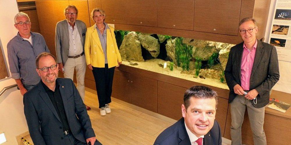 Pressetermin am von der DCG betreuten Tanganjikasee-Aquarium im Lippischen Landesmuseum in Detmold am 23.6.21