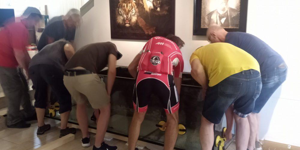 Neuaufbau des großen Tanganjikasee-Aquariums im Lippischen Landesmuseum in Detmold