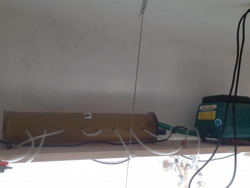 Leistungsfähige Membranpumpe und Luftverteilung für die Luftheber